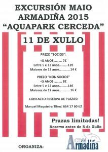 Cartaz Excursión Aquapark Cerceda